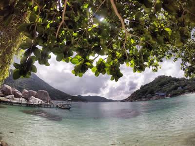 La petite île de Koh Tao, en Thaïlande, prise par la lentille de ma GoPro!