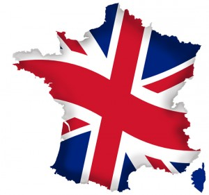 France - Union Jack Outlined