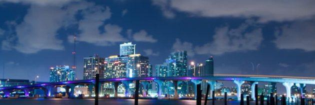 La vie nocturne dans la ville de Miami