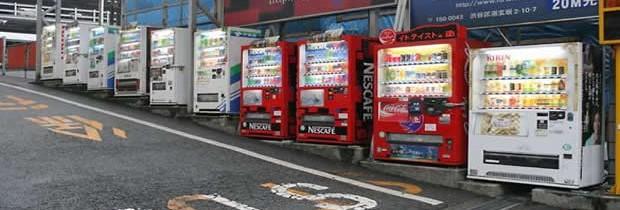 Les distributeurs automatiques au Japon