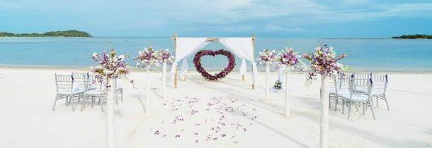 Un voyage pour un mariage les pieds dans l'eau